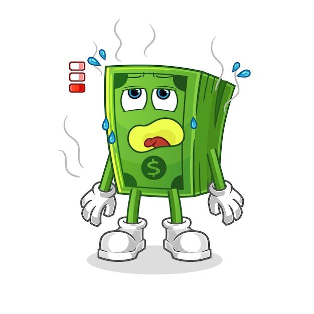 Талисман низкого заряда батареи поп-кукурузы. мультфильм Premium векторы