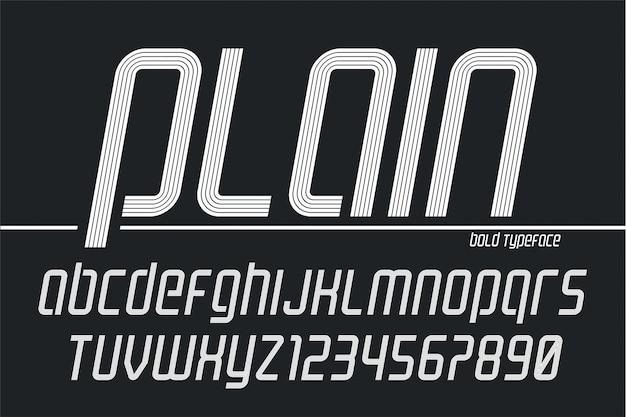 プレーンディスプレイフォントpopart、アルファベット、文字、数字 Premiumベクター