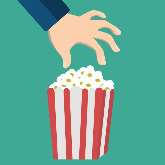 Popcorn box background design Free Vector