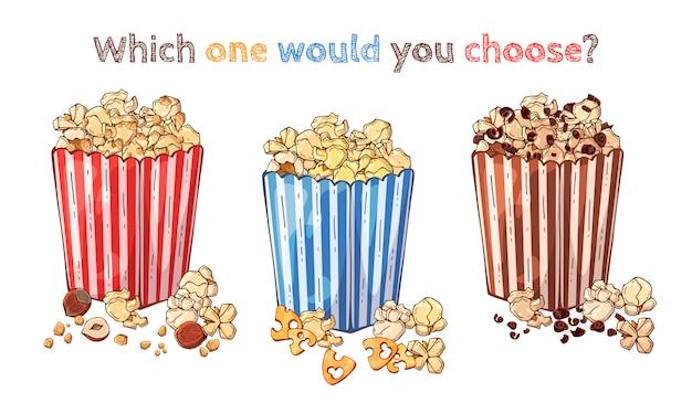 Popcorn Premium Vector