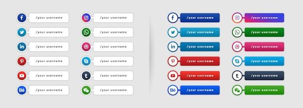 Popular social media lower third banner template Free Vector