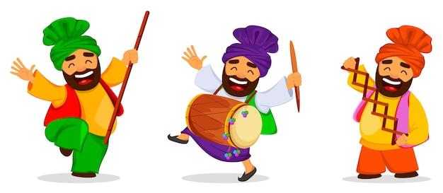 Premium Vector Popular Winter Punjabi Folk Festival Lohri