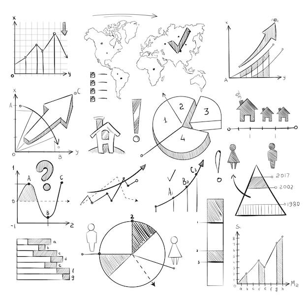 Population demography doodle Premium Vector