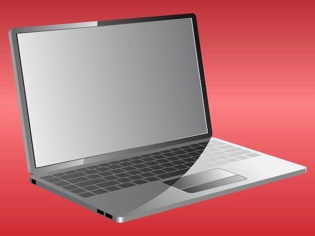 Portable Computer Screen : Portable laptop screen vector illustration free