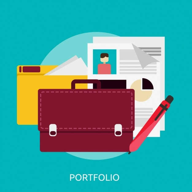 bfe88d01f3d Portfolio background design Free Vector