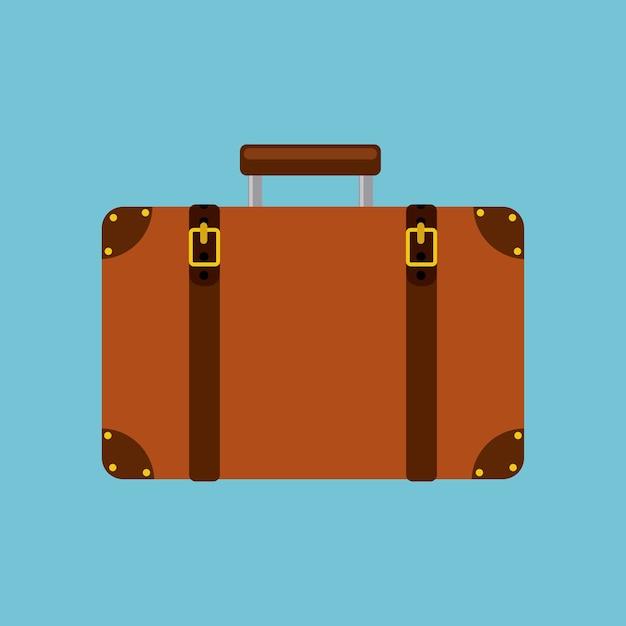 Portfolio briefcase isolated icon Premium Vector