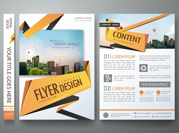 portfolio design template vector vector premium download
