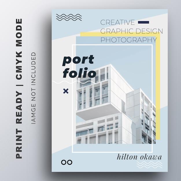 Portfolio presentation flyer design template Vector