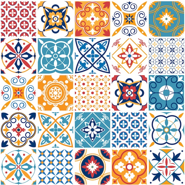 Portugal seamless pattern Premium Vector