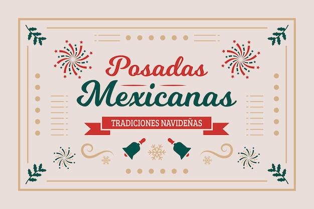 Posadas 멕시코 레이블 배경 무료 벡터