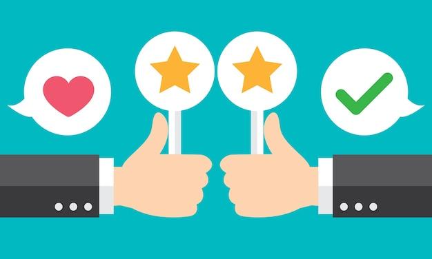 Positive feedback Premium Vector