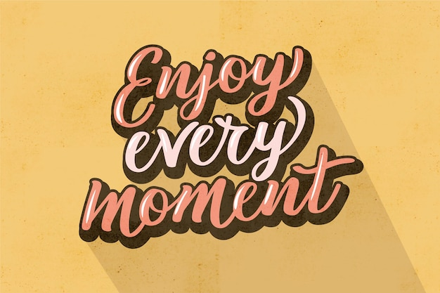Positive lettering in vintage style Free Vector