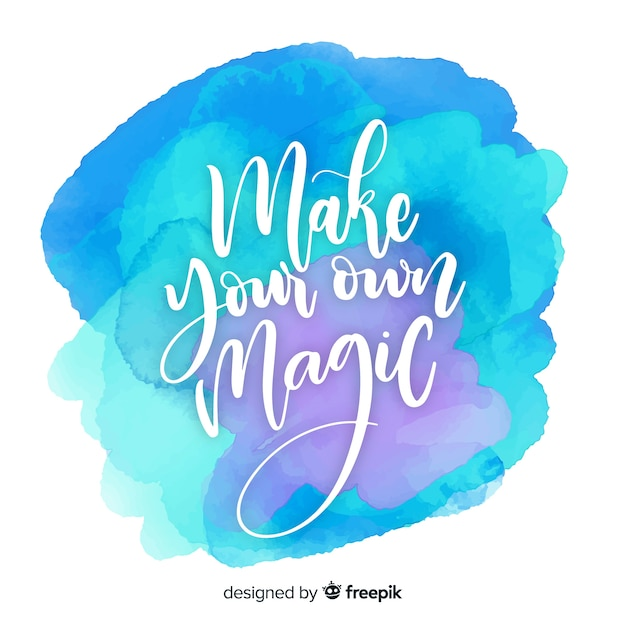 Positive message on watercolor background Free Vector