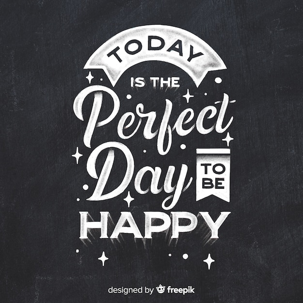 Positive message with lettering Free Vector