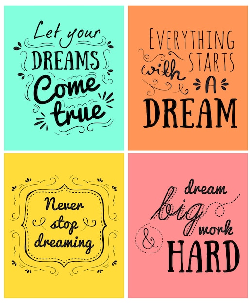 Positive messages Free Vector