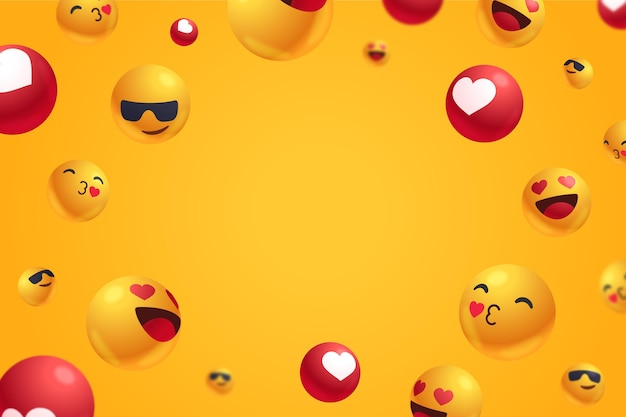 Positive reactions with empty space background Free Vector