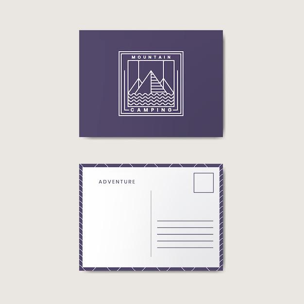 Post card design template mockup Free Vector