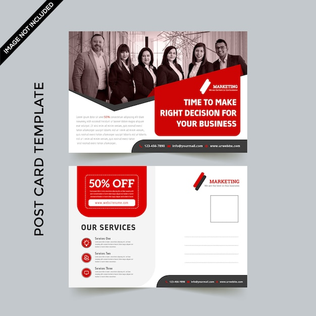 Post card template Premium Vector