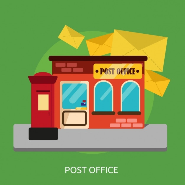 Post office background design Vector Free Download