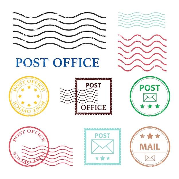 Post office mark   illustration  on white background Premium Vector