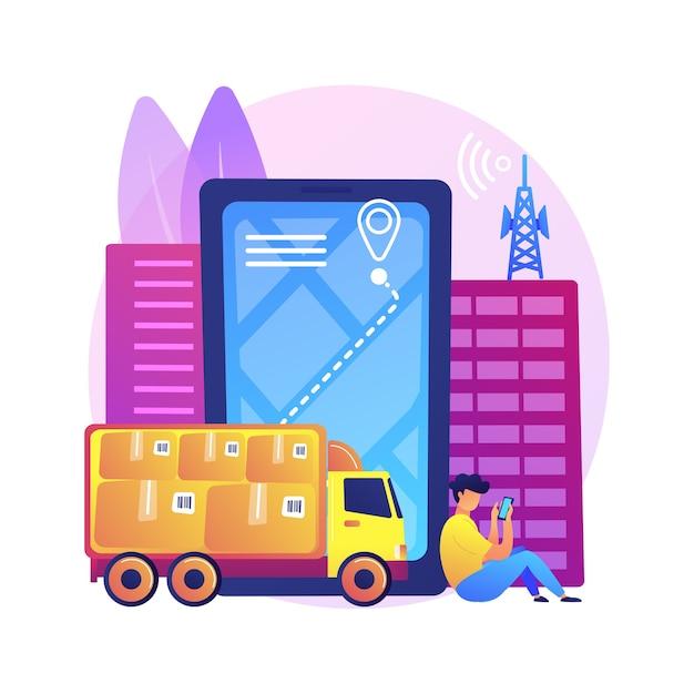 Иллюстрация отслеживания почтовой службы Бесплатные векторы