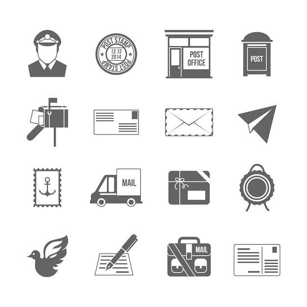 Postal office icons