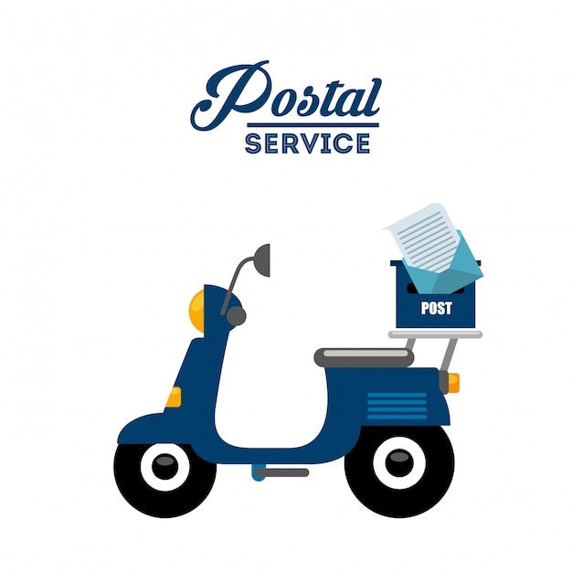 Postal service design Free Vector