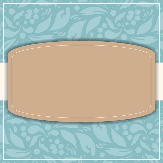 結婚式のイラストデザインのポストカード Premiumベクター