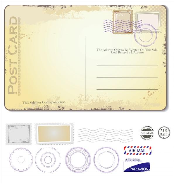 Postcard Premium Vector