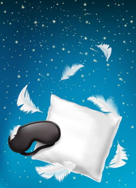 Poster for comfortable sleep, sweet dreaming Free Vector