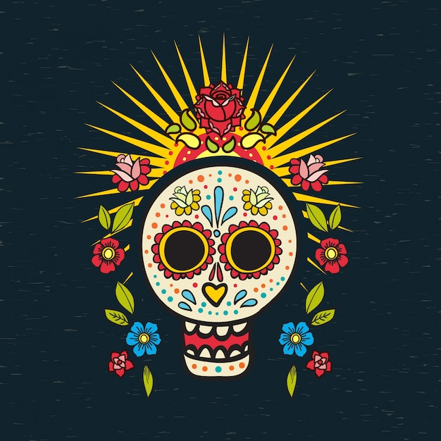 The poster  of day of the dead, Premium Vector