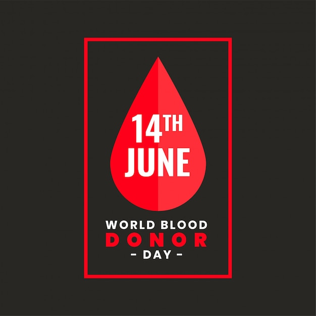 Poster design for international world blood donor day Free Vector