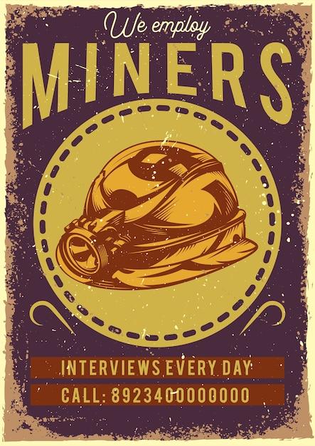 ヘルメットのイラストとポスターデザイン 無料ベクター