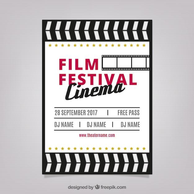 retro design graphic design poster film festival in retro design vector free download