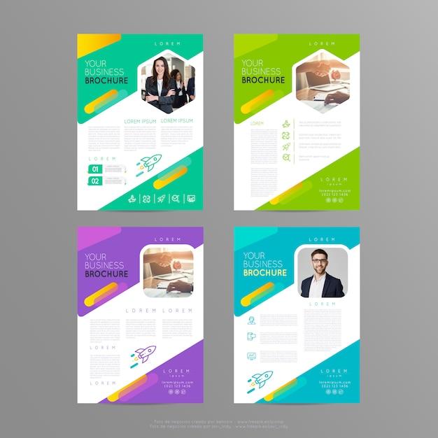 Poster flyer  template brochure cover design layout Premium Vector