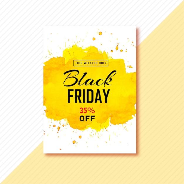 ブラックフライデーのパンフレットデザインのポスター 無料ベクター