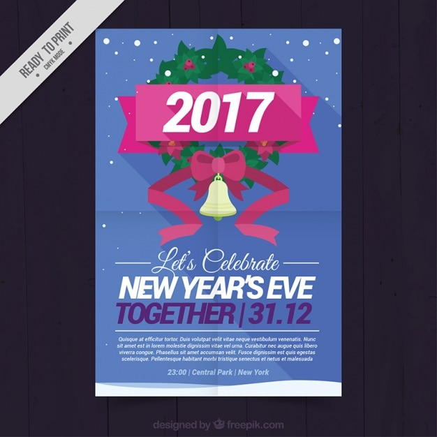 Poster for the 2017 new year\'s party