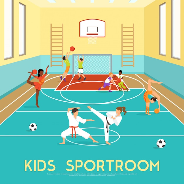 Poster of kids sportroom Free Vector