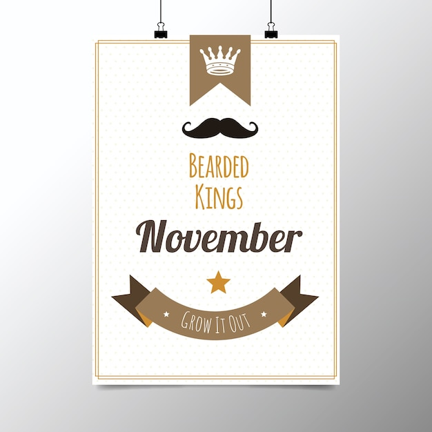 Poster for movember Free Vector