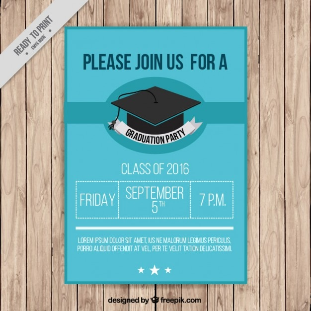 Poster Of Graduation Party Vector
