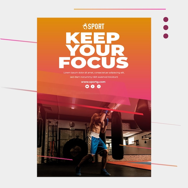 Poster for sports activity Premium Vector