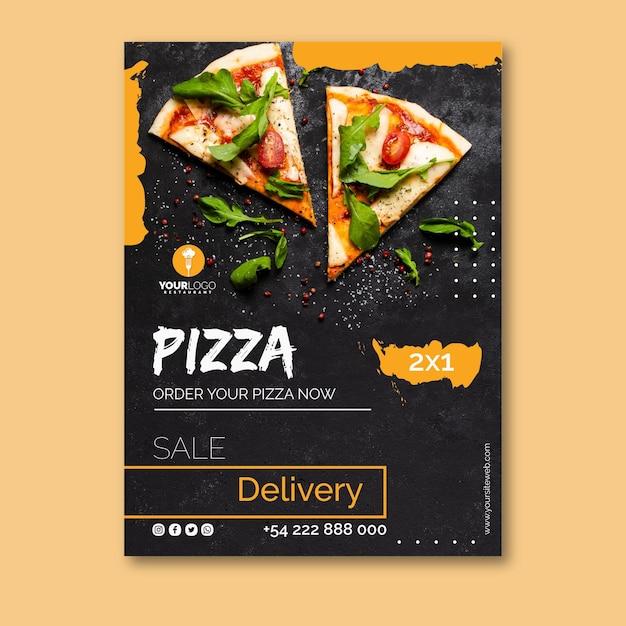 Шаблон плаката для пиццерии Бесплатные векторы