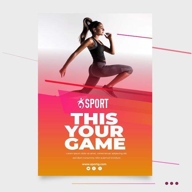 スポーツ活動のポスターテンプレート 無料ベクター