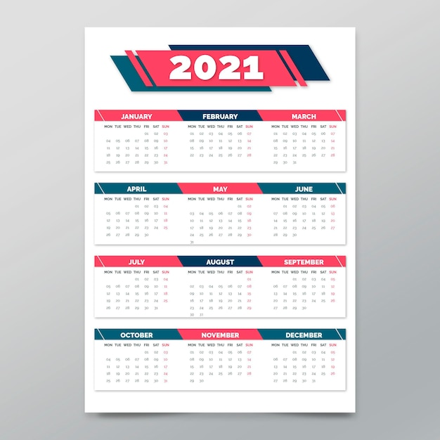 Poster template for new year Free Vector