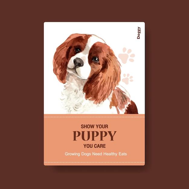 Шаблон постера с собакой Бесплатные векторы