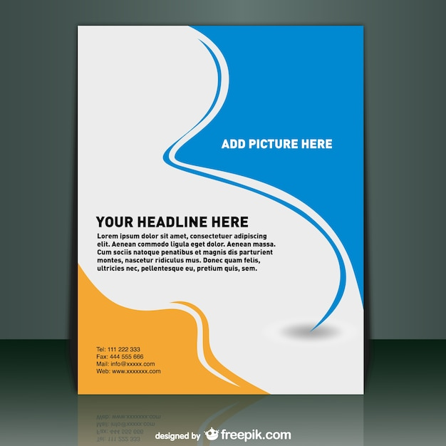 School Book Cover Design Samples : Poster template vector free download