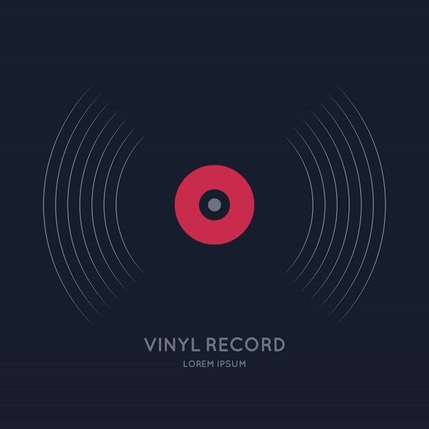 Poster of the vinyl record Premium Vector