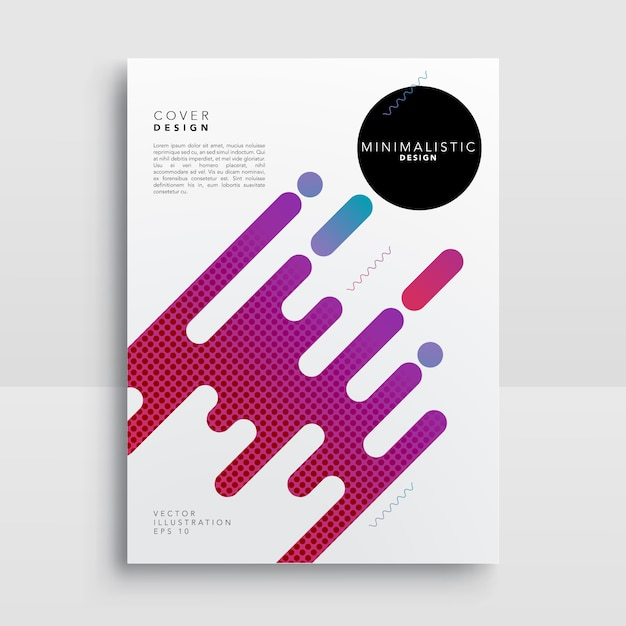 Poster with abstract shapes Free Vector