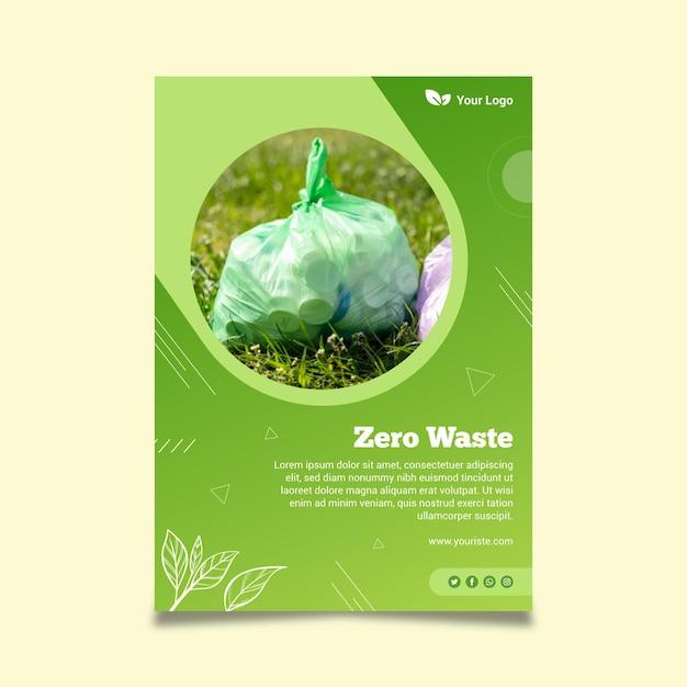 Poster modello zero rifiuti Vettore gratuito