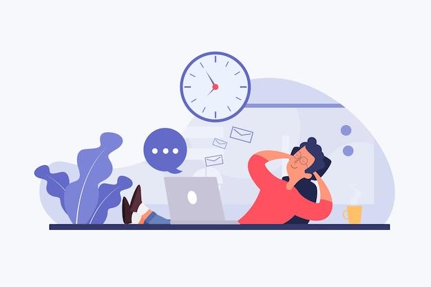 Woman procrastinating